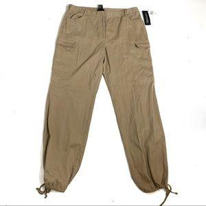 I.N.C Tan Cargo Jogger Utility Pants